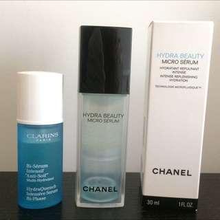 [RESERVED] 2-PC Set CHANEL Hydra Beauty Micro Serum & CLARINS HydraQuench Serum