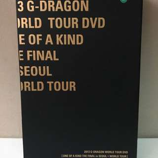 BIGBANG GDRAGON ONE OF A KIND WORLD TOUR DVD