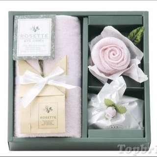 🌟Rosette 淡粉玫瑰毛巾肥皂組🌟