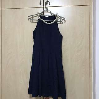 Blue Dress With Pearls