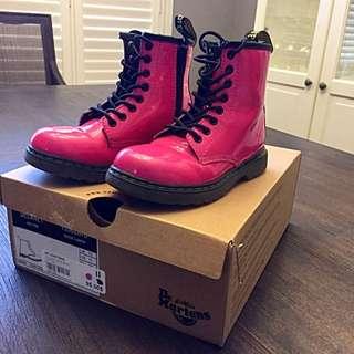 Dr Martens Girls Sz 11 (toddler) Delaney Boot Hot Pink
