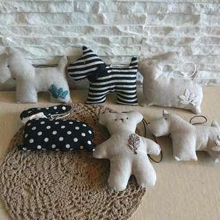 🚚 日系雜貨療癒小物🍄動物造型🍄薰衣草布質吊掛香包/裝飾/飾品【六款任選】
