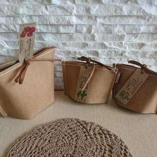 🚚 日本製🍄療癒系/療癒小物 仿牛皮造型盆栽/栽培種植【大 番茄】【小 羅勒】【小 薄荷 】