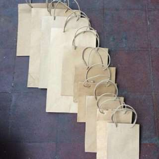 Kraft Brown Paper Bags With Paper Twine Handle