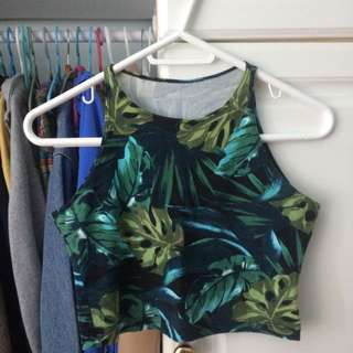 American Apparel Tropical Leaf Crop Tank