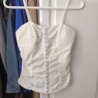 White Lace Corset / Tank Top
