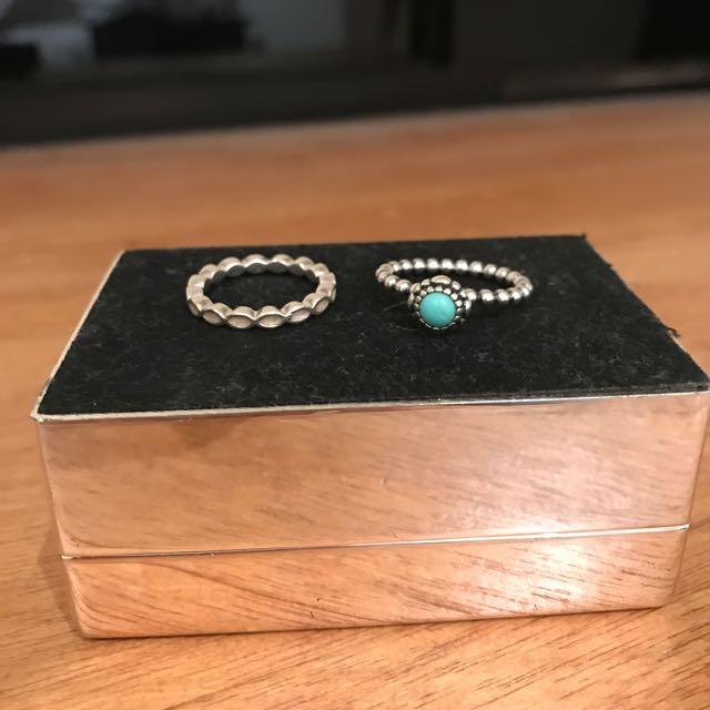 2 x Pandora Rings