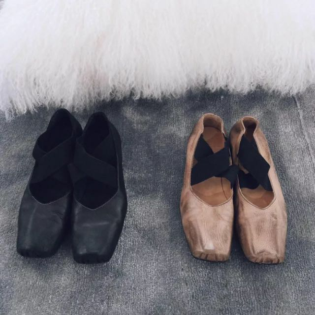 黑方頭芭蕾舞鞋