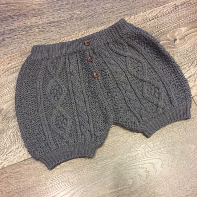 小女生保暖毛線短褲