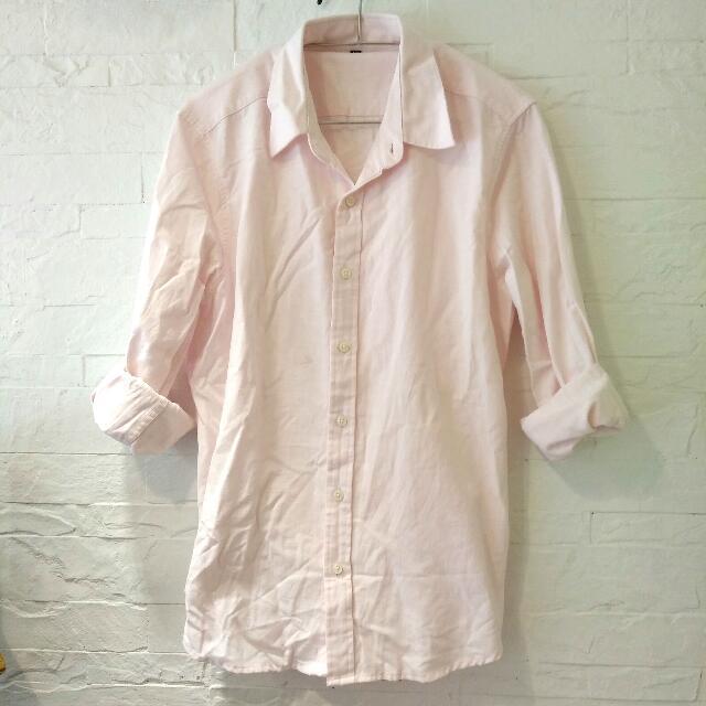 粉色牛仔休閒襯衫