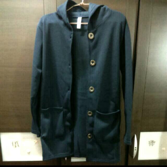 正韓貨。免運 韓國製 全新長版保暖外套 秋 雙口袋