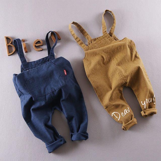💥現貨💥 寶寶 牛仔 單寧 吊帶褲