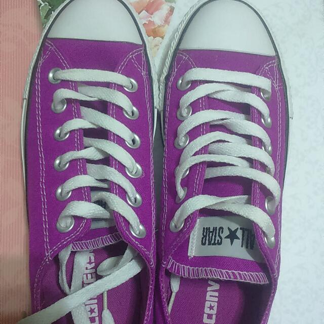 全新 Converse 螢光紫 24.5
