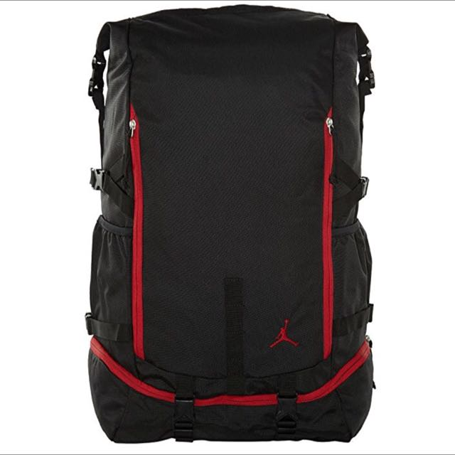 7707a3b8926a AIR JORDAN JUMPMAN TOP LOADER BAG (BLACK RED)