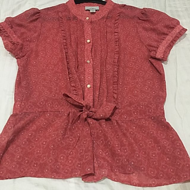 Ann Taylor Red Blouse