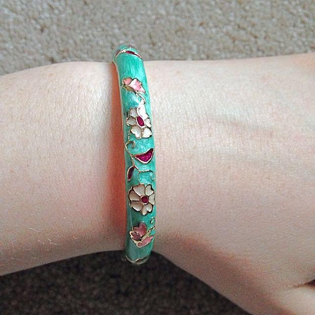 Aqua Clasp Bracelet