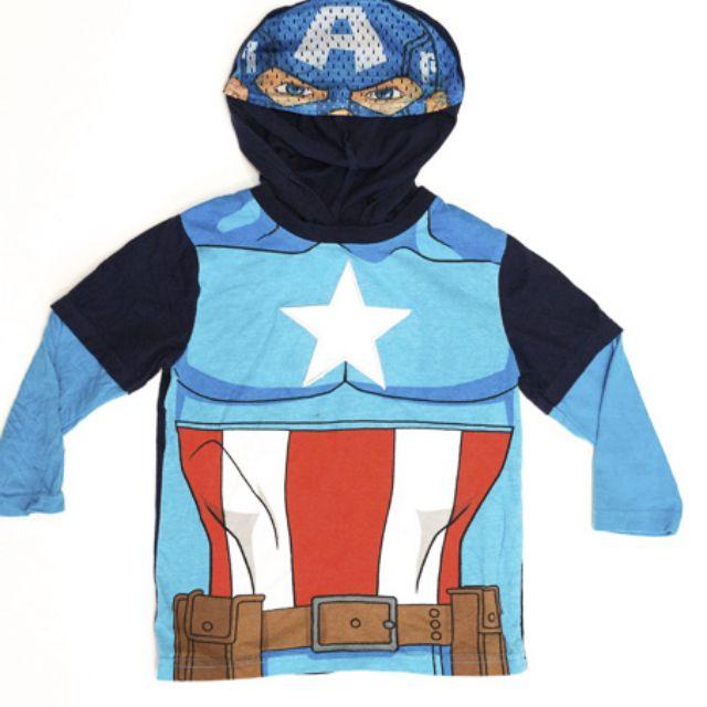 Avengers Assemble - Captain American Long sleeve top w/ hood and visor