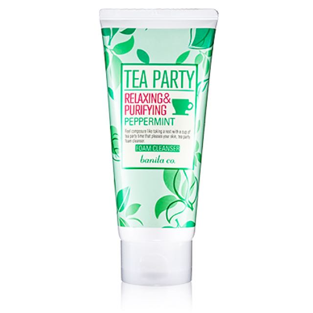 banila co tea party foam cleanser