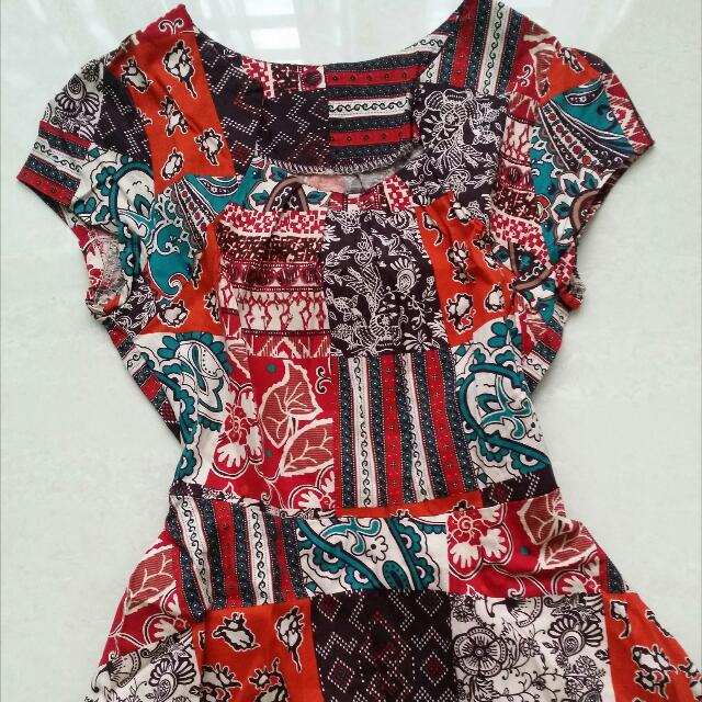 Batik Peplum Top