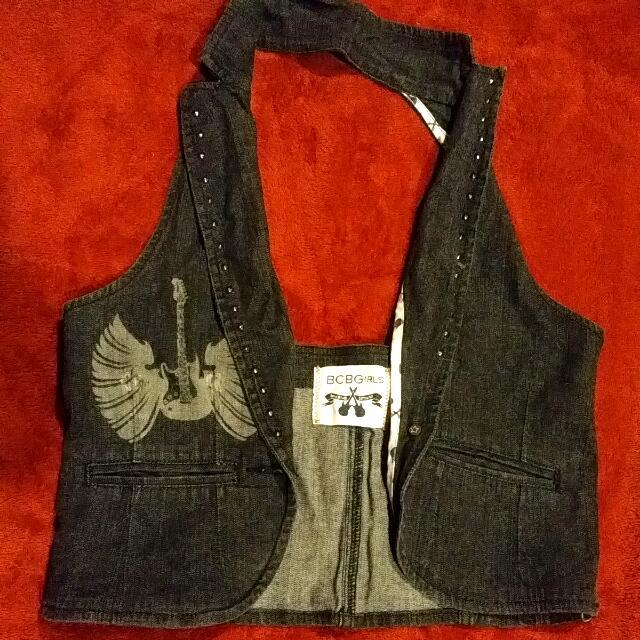 BCBG Girls Denim Vest Size Large But Fits More Like A Small/Medium