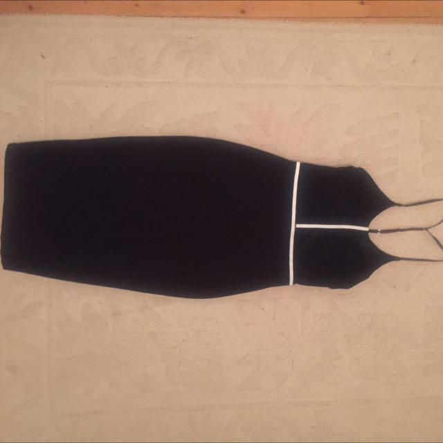 Bec & Bridge Black Midi Bodycon Dress 8