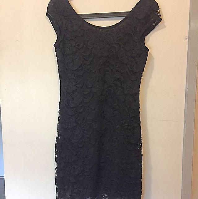 Black Lace Cocktail Dress