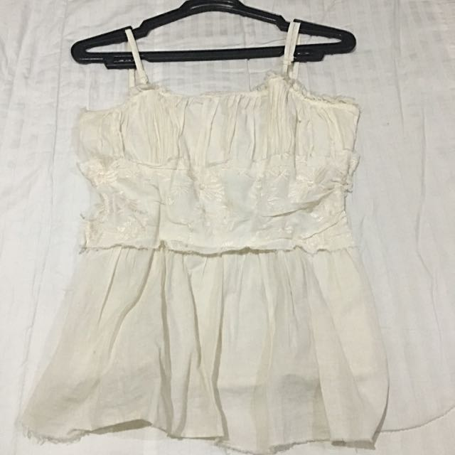Charlotte Russe White Sleeveless Top