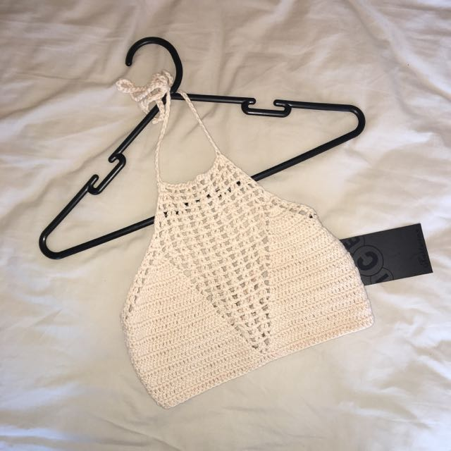 Cream Knitted Halter