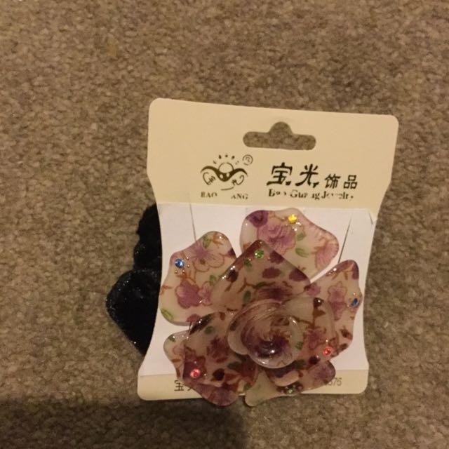 Flower Scrunchie