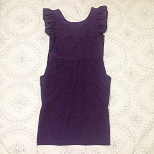 Folded & Hung Violet Dress
