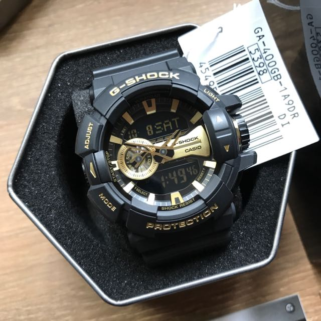 Free Delivery G-Shock Gold GA400GB Analog Digital Gold Black Series Casio  Gshock Watch 31cff1bb4964
