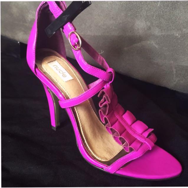 Fuchsia Thin Strap Heel