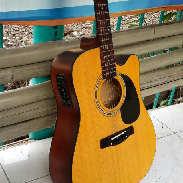 Gitar Akustik Elektrik Natural Dodf Eq7545r Musik Media Alat Di Carousell