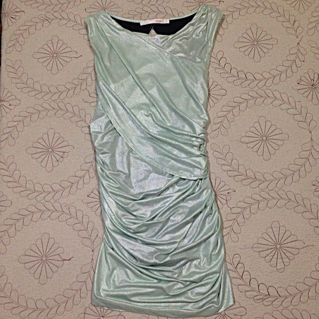Glittery Green top/dress