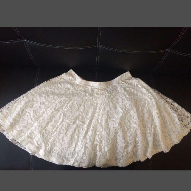 H&M High Waist Lace Skirt