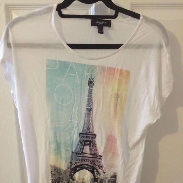 Mango Graphic Print Tshirt