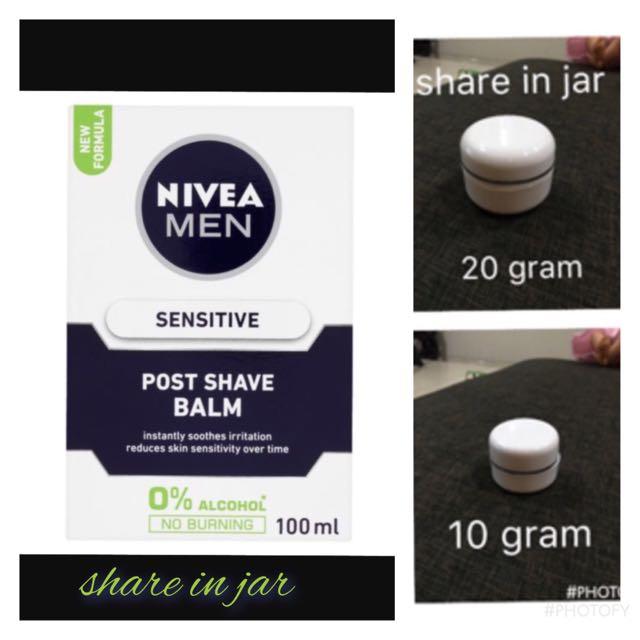 Nivea men as PRIMER (sensitive) share in jar
