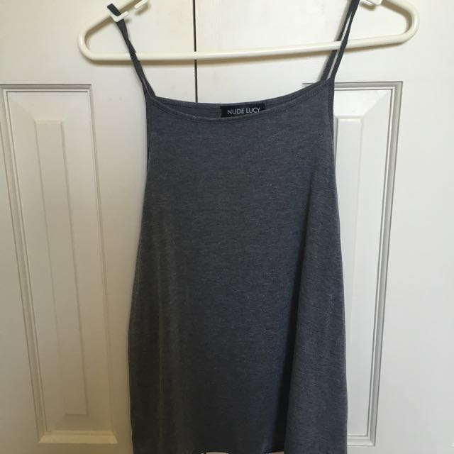 nude lucy grey tank top