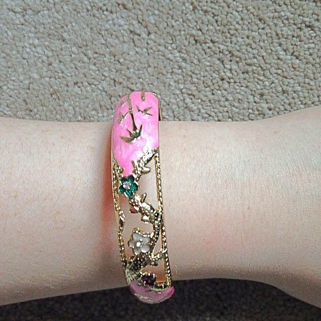 Pink Hoop Bracelet