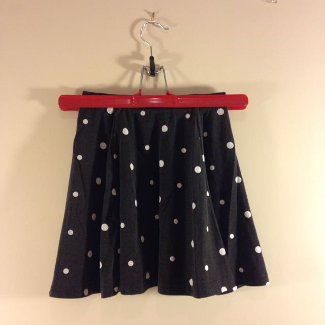 Polka Dot Skater Skirt (Cotton On)