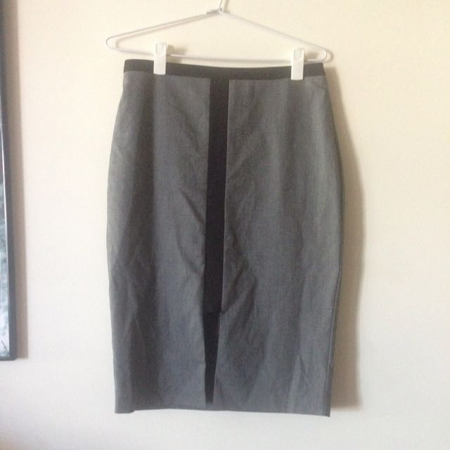 Portmans Office Work Pencil Grey Professional Skirt