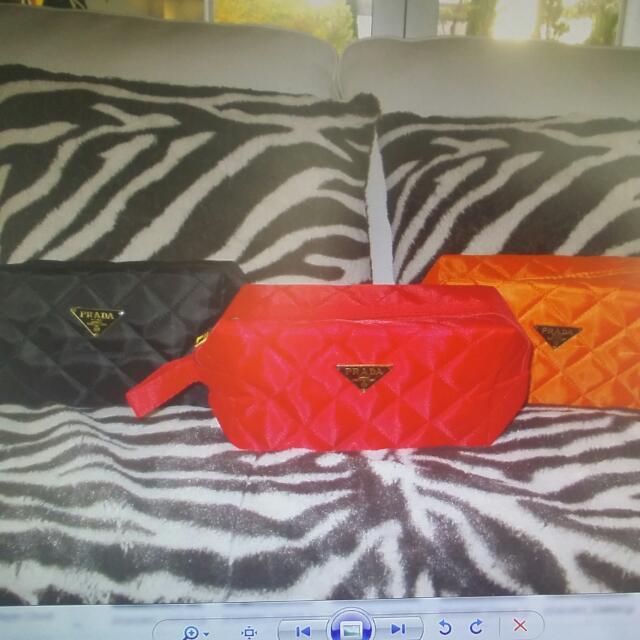 Prada Cosmetic Bags New 3 Colours