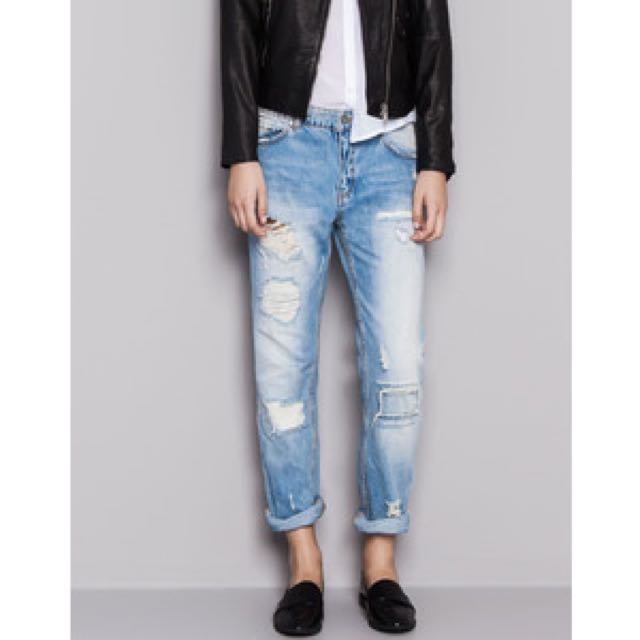 Pull & Bear Ripped Jeans