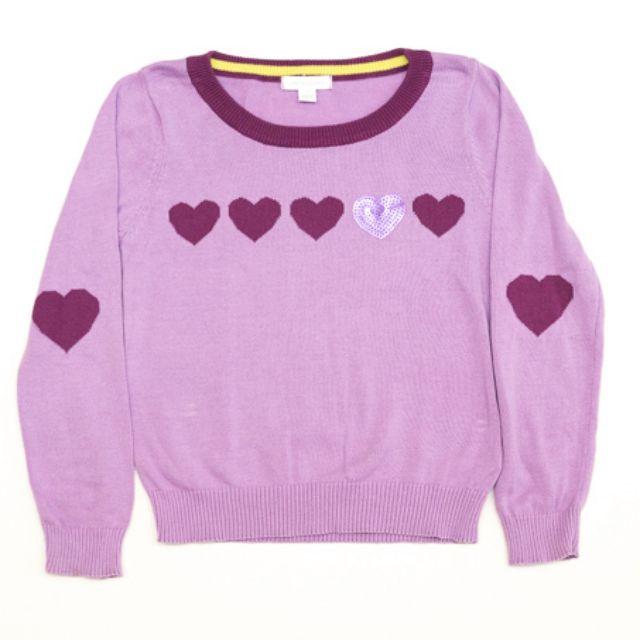 Pumpkin Patch - Purple Hearts Jumper - Girls size 7