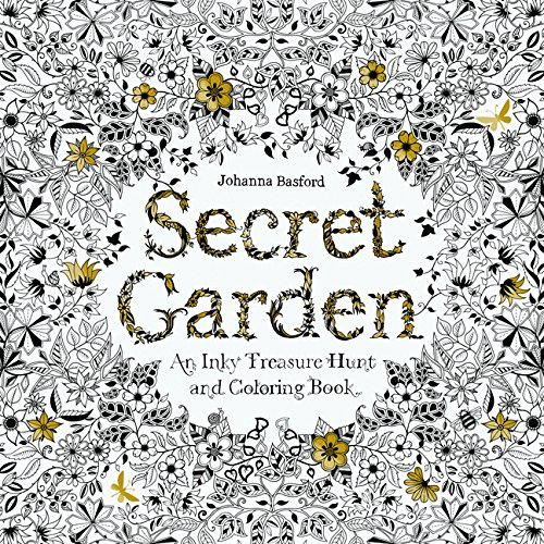 (Repriced)Secret Garden: An Inky Treasure Hunt and Coloring Book (Original)