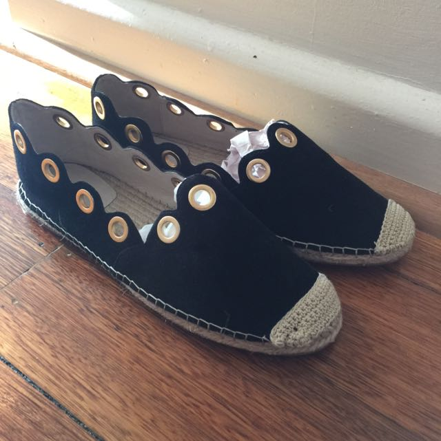 Seed Heritage Suede Leather espadrilles Sz 41 New