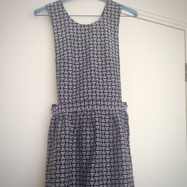 TOPSHOP dungaree style dress