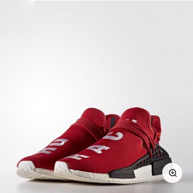 62470bb2e3a0f US 10.5 PHARRELL WILLIAMS HU RACE NMD SHOES RED 🔴