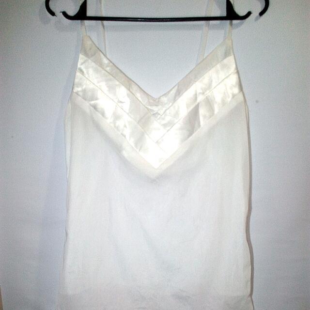 white see-through spaghetti strap