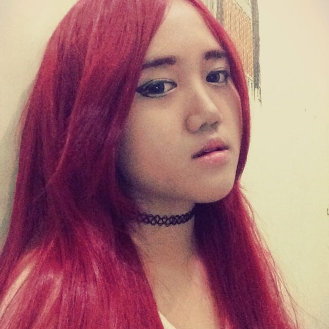 Wig Eve Red 100cm